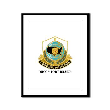 MICCFB - M01 - 02 - DUI - MICC - Fort Bragg with Text - Framed Panel Print