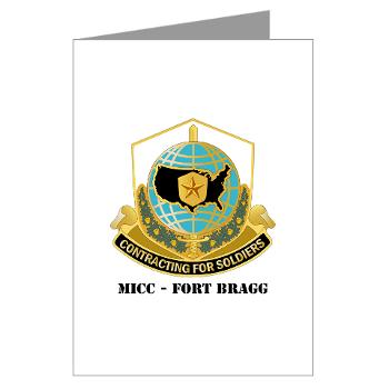 MICCFB - M01 - 02 - DUI - MICC - Fort Bragg with Text - Greeting Cards (Pk of 20)