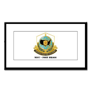 MICCFB - M01 - 02 - DUI - MICC - Fort Bragg with Text - Small Framed Print