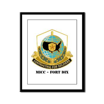 MICCFD - M01 - 02 - DUI - MICC - FORT DIX with Text - Framed Panel Print