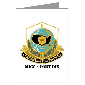 MICCFD - M01 - 02 - DUI - MICC - FORT DIX with Text - Greeting Cards (Pk of 20)