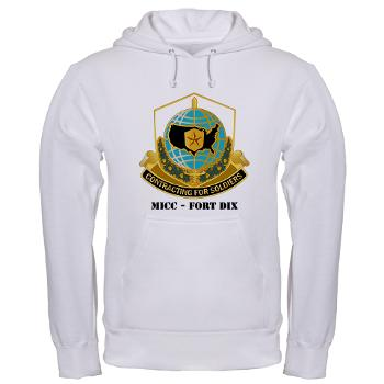 MICCFD - A01 - 03 - DUI - MICC - FORT DIX with Text - Hooded Sweatshirt