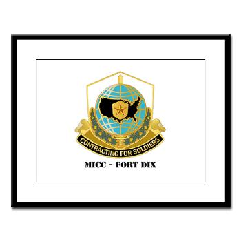 MICCFD - M01 - 02 - DUI - MICC - FORT DIX with Text - Large Framed Print