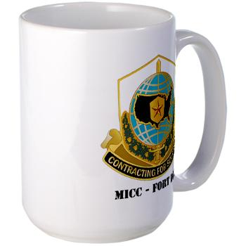 MICCFD - M01 - 03 - DUI - MICC - FORT DIX with Text - Large Mug