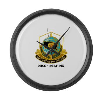 MICCFD - M01 - 03 - DUI - MICC - FORT DIX with Text - Large Wall Clock