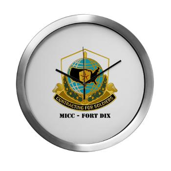 MICCFD - M01 - 03 - DUI - MICC - FORT DIX with Text - Modern Wall Clock
