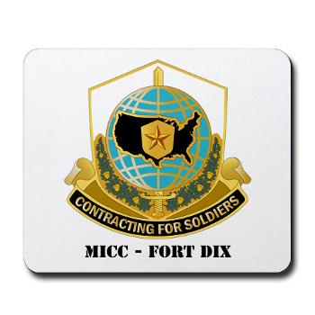 MICCFD - M01 - 03 - DUI - MICC - FORT DIX with Text - Mousepad