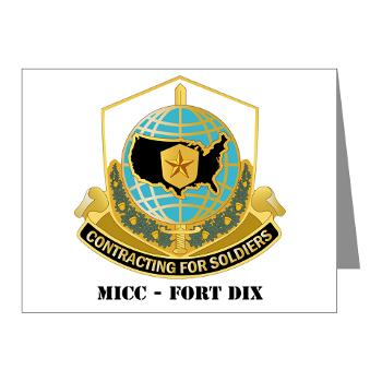 MICCFD - M01 - 02 - DUI - MICC - FORT DIX with Text - Note Cards (Pk of 20)