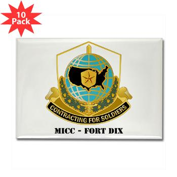 MICCFD - M01 - 01 - DUI - MICC - FORT DIX with Text - Rectangle Magnet (10 pack)