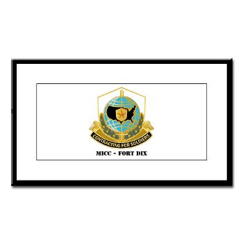 MICCFD - M01 - 02 - DUI - MICC - FORT DIX with Text - Small Framed Print