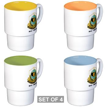 MICCFD - M01 - 03 - DUI - MICC - FORT DIX with Text - Stackable Mug Set (4 mugs)