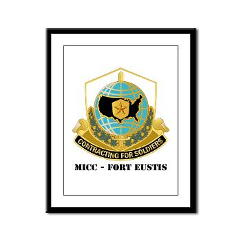 MICCFE - M01 - 02 - MICC - FORT EUSTIS with Text - Framed Panel Print