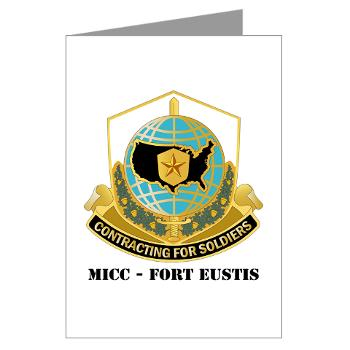 MICCFE - M01 - 02 - MICC - FORT EUSTIS with Text - Greeting Cards (Pk of 20)