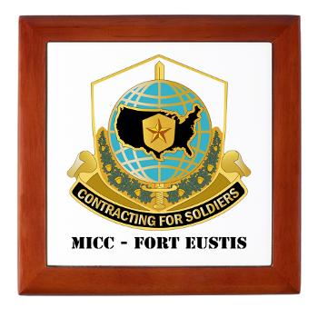 MICCFE - M01 - 03 - MICC - FORT EUSTIS with Text - Keepsake Box