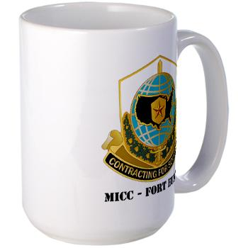 MICCFE - M01 - 03 - MICC - FORT EUSTIS with Text - Large Mug