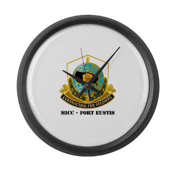MICCFE - M01 - 03 - MICC - FORT EUSTIS with Text - Large Wall Clock