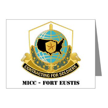 MICCFE - M01 - 02 - MICC - FORT EUSTIS with Text - Note Cards (Pk of 20)