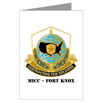 MICCFK - M01 - 02 - MICC - FORT KNOX with Text Greeting Cards (Pk of 10)