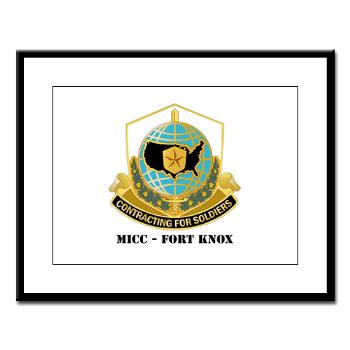 MICCFK - M01 - 02 - MICC - FORT KNOX with Text Large Framed Print
