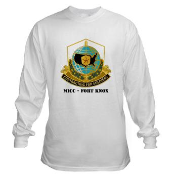 MICCFK - A01 - 03 - MICC - FORT KNOX with Text Long Sleeve T-Shirt