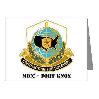 MICCFK - M01 - 02 - MICC - FORT KNOX with Text Note Cards (Pk of 20)