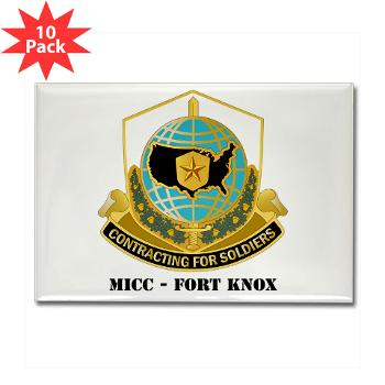 MICCFK - M01 - 01 - MICC - FORT KNOX with Text Rectangle Magnet (10 pack)