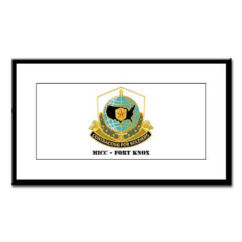 MICCFK - M01 - 02 - MICC - FORT KNOX with Text Small Framed Print