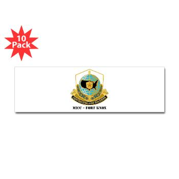 MICCFK - M01 - 01 - MICC - FORT KNOX with Text Sticker (Bumper 10 pk)
