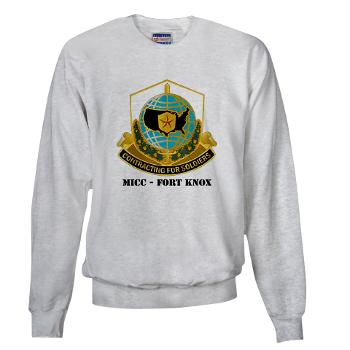 MICCFK - A01 - 03 - MICC - FORT KNOX with Text Sweatshirt
