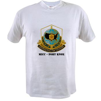 MICCFK - A01 - 04 - MICC - FORT KNOX with Text Value T-Shirt
