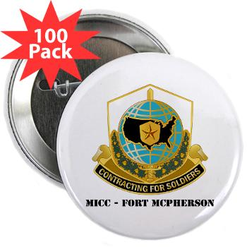 "MICCFM - M01 - 01 - MICC - FORT MCPHERSON with Text - 2.25"" Button (100 pack)"