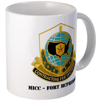 MICCFM - M01 - 03 - MICC - FORT MCPHERSON with Text - Large Mug
