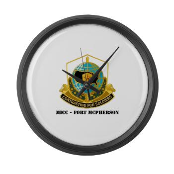 MICCFM - M01 - 03 - MICC - FORT MCPHERSON with Text - Large Wall Clock