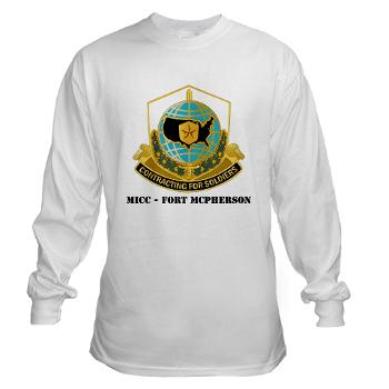 MICCFM - A01 - 03 - MICC - FORT MCPHERSON with Text - Long Sleeve T-Shirt