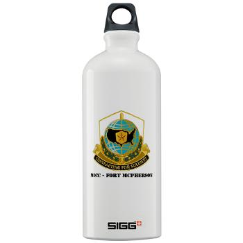 MICCFM - M01 - 03 - MICC - FORT MCPHERSON with Text - Sigg Water Bottle 1.0L