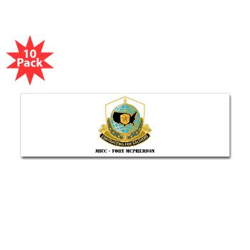 MICCFM - M01 - 01 - MICC - FORT MCPHERSON with Text - Sticker (Bumper 10 pk)