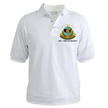 MICCFSH - A01 - 04 - MICC - FORT SAM HOUSTON with Text Golf Shirt