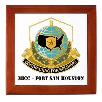 MICCFSH - M01 - 03 - MICC - FORT SAM HOUSTON with Text Keepsake Box