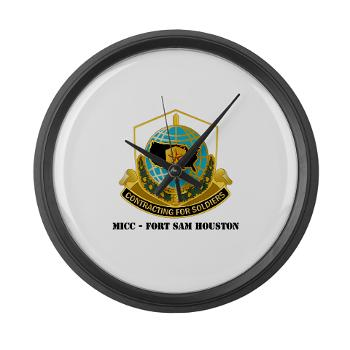 MICCFSH - M01 - 03 - MICC - FORT SAM HOUSTON with Text Large Wall Clock
