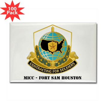 MICCFSH - M01 - 01 - MICC - FORT SAM HOUSTON with Text Rectangle Magnet (100 pack)