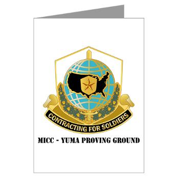 MICCYPG - M01 - 02 - MICC - YUMA PROVING GROUND with Text Greeting Cards (Pk of 20)