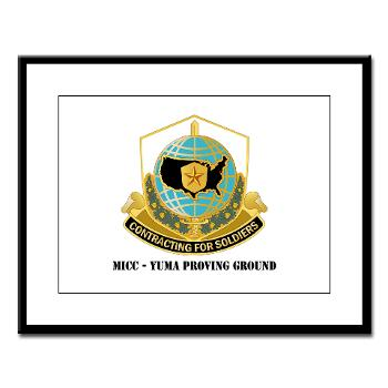 MICCYPG - M01 - 02 - MICC - YUMA PROVING GROUND with Text Large Framed Print