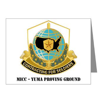 MICCYPG - M01 - 02 - MICC - YUMA PROVING GROUND with Text Note Cards (Pk of 20)