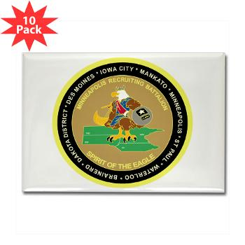 MINNEAPOLIS - M01 - 01 - DUI - Minneapolis Recruiting Bn - Rectangle Magnet (10 pack)