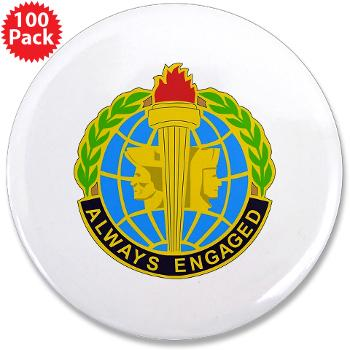 "MIRC - M01 - 01 - DUI - Military Intelligence Readiness Command - 3.5"" Button (100 pack)"