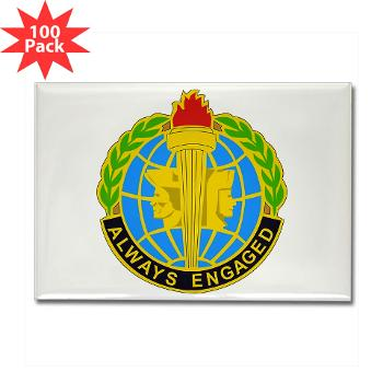MIRC - M01 - 01 - DUI - Military Intelligence Readiness Command - Rectangle Magnet (100 pack)