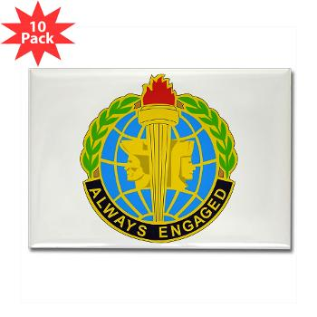 MIRC - M01 - 01 - DUI - Military Intelligence Readiness Command - Rectangle Magnet (10 pack)
