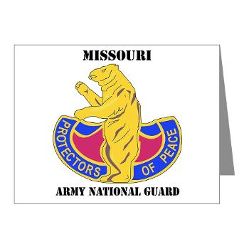 MOARNG - M01 - 02 - DUI - MISSOURI ARMY NATIONAL GUARD WITH TEXT - Note Cards (Pk of 20)