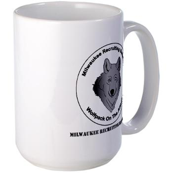 MRB - M01 - 03 - DUI - Milwaukee Recruiting Bn - Large Mug