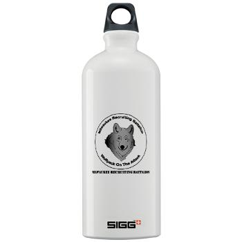 MRB - M01 - 03 - DUI - Milwaukee Recruiting Bn - Sigg Water Bottle 1.0L